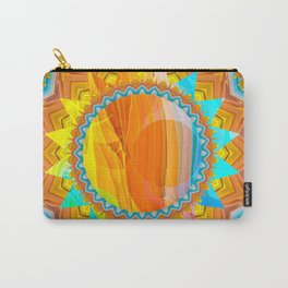 Moon and Sun Mandala Design Carry-All Pouch