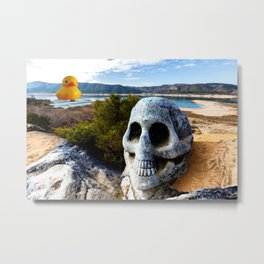 Selfie with Photo Bomb at the Beach Metal Print