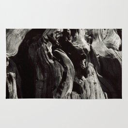 Black and White Tree Bark and Roots Outdoor Nature Photograph Rug