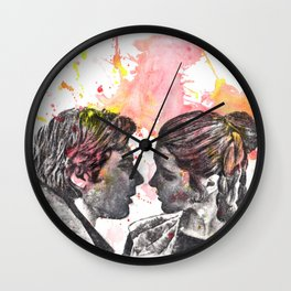 Han Solo and Princess Leia from Star Wars Wall Clock