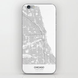 Chicago, United States Minimalist Map iPhone Skin