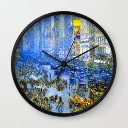Childe Hassam Fifth Avenue New York Wall Clock