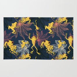 Happy Yellow Frogs Rug