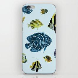 Tropical Fish Pattern - Coastal Beach iPhone Skin