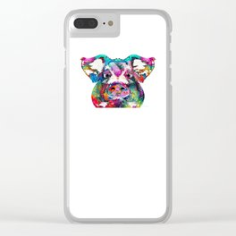 Colorful Pig Art - Squeal Appeal - By Sharon Cummings Clear iPhone Case