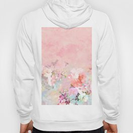 Modern blush watercolor ombre floral watercolor pattern Hoody