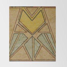 Arts & Crafts style tulip Throw Blanket