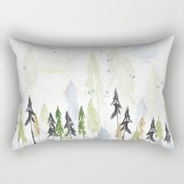 Into the woods woodland scene Rectangular Pillow