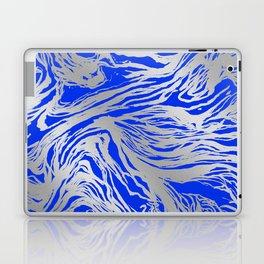 Marbled Blue Laptop & iPad Skin