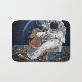 Space Cowboy Painting | Woke Up From A Dream For This Idea Bath Mat