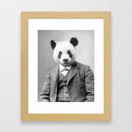Distinguished Panda Framed Art Print