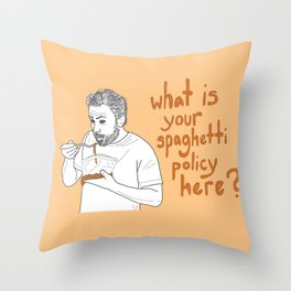 Charlie Kelly - Spaghetti Policy Throw Pillow
