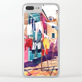 Laundry in Venice Clear iPhone Case