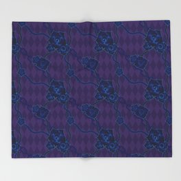Thorny Rose Vines with Chains Throw Blanket