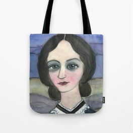 "Charlotte Bronte Writers Portrait, ""Charlotte on the Moors"" Tote Bag"