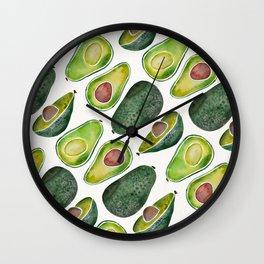 Avocado Slices Wall Clock