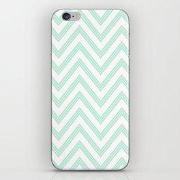 Chevron ZigZag Herringbone pattern - Mint light green I #Society6 iPhone Skin