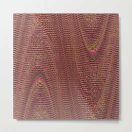 Abstract Woven Threads Mauve Metal Print