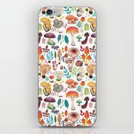 Mushroom heart iPhone Skin