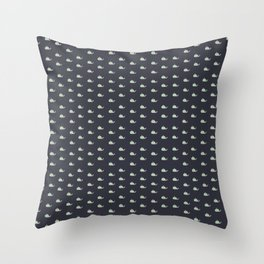 whale. Throw Pillow