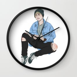 Ripped Jeans and Dreams Wall Clock