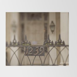 New Orleans 1239 Gate Throw Blanket