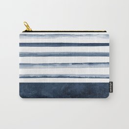 Watercolor Stripes Pattern Carry-All Pouch
