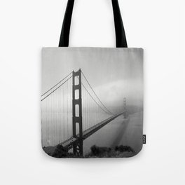 The Golden Gate Bridge In A Mist Tote Bag
