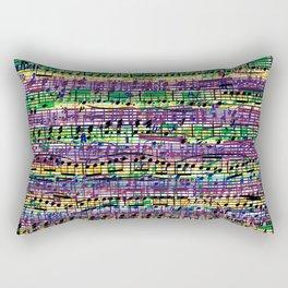Beethoven Op 29 - Rainbow Music Collage Rectangular Pillow
