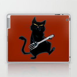 Cat with a fork Laptop & iPad Skin