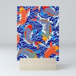Koi fish / japanese tattoo style pattern Mini Art Print