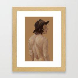 farmer's back Framed Art Print