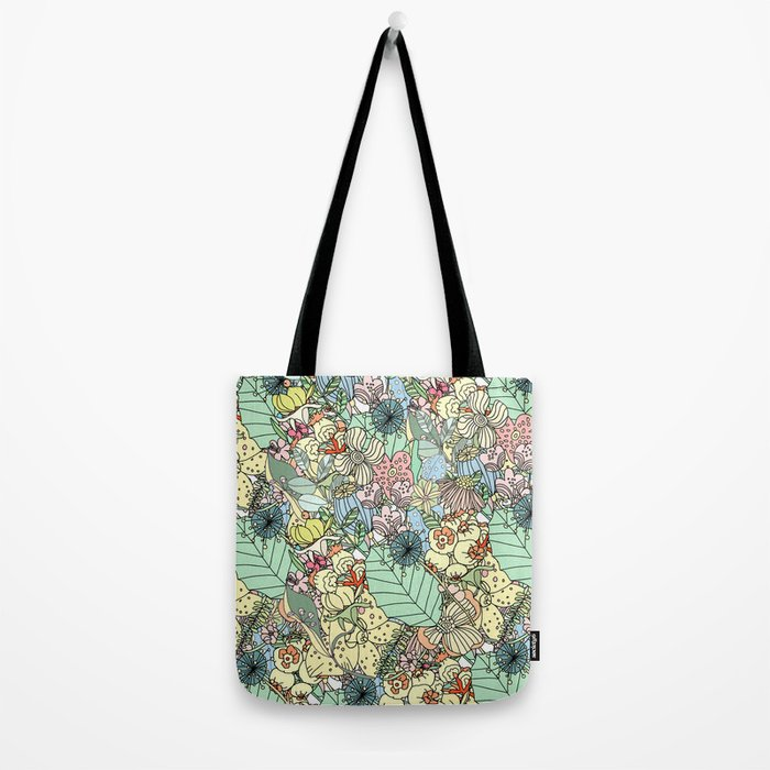Nature Bloom Pattern Tote Bag