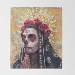 """""""Katrina"""" - Skull girl Throw Blanket"""