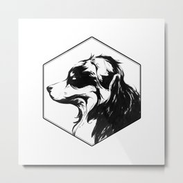 Canine Republic : Bernese Mountain Dog Metal Print