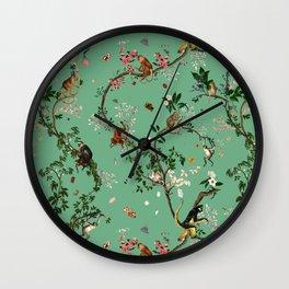 Monkey World Green Wall Clock