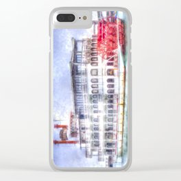 New Orleans Paddle Steamer Art Clear iPhone Case
