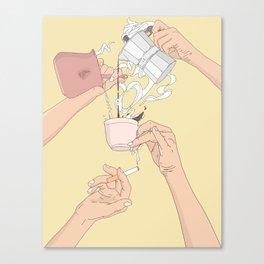 Coffee Hands Canvas Print