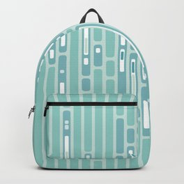 Ocean Reflection – Blue / Teal Midcentury Abstract Backpack