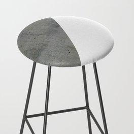 Concrete Vs White Bar Stool