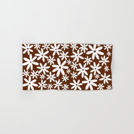 Tiare Flower Brown Hand & Bath Towel