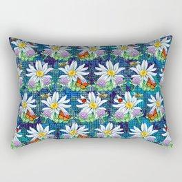 Flowers and bugs pattern Rectangular Pillow