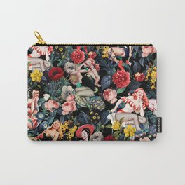 Floral and Pin-Up Girls IV Carry-All Pouch