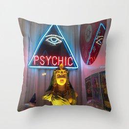 PSYCHIC Throw Pillow