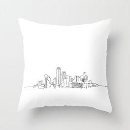 Dallas Skyline Drawing Throw Pillow