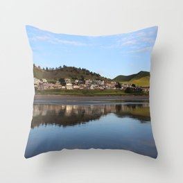 Ocean Water Reflection in Cayucos, California Throw Pillow