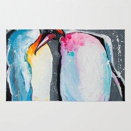 Penguins in love Rug