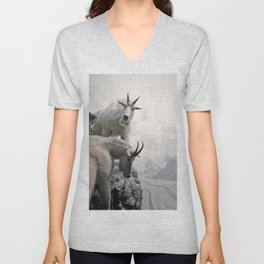 Hi, we are the mountain goats Unisex V-Neck