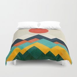 The hills are alive Duvet Cover