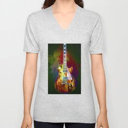 Sounds of music. Guitar. Unisex V-Neck